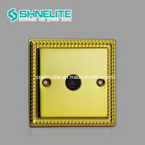 Double interrupteur 45de la plaque d'une cuisinière couleur or double pôle