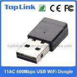 802.11AC 2.4G/5g удваивают Dongle USB WiFi низкой стоимости полосы 600Mbps высокоскоростной Realtek для Android коробки TV
