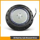 100W iluminación industrial de la bahía de la dimensión de una variable LED de la luz UFO/Round alta