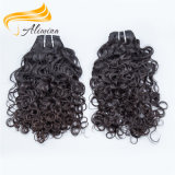 Qingdao directamente de fábrica hecha a mano suave Wefts cabello humano.