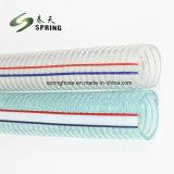 PVC bleu fil d'acier en plastique renforcé de l'eau industrielle Durit du tuyau de décharge hydraulique