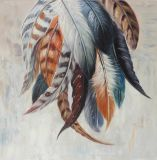 100% Hechos a mano Red Feather impresionista pintura al óleo