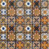 60X60 de Tegels van het Ontwerp van de Vloer van het Patroon van de bloem met Beelden