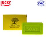 Sapone organico naturale puro del sapone di bagno con il sapone del tè verde di fragranza della lavanda