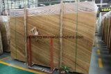 Grano de madera de color amarillo de la pared el suelo del baño de mármol amarillo mosaico para el lupus eritematoso sistémico