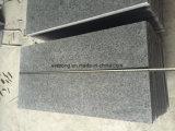 Mattonelle di pavimento Polished naturali del granito del nero della perla G684 per pavimentare