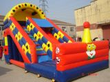 中国の膨脹可能なおもちゃの/Jumpingの弾力がある城の警備員のペンギンのスライド(T4-194)
