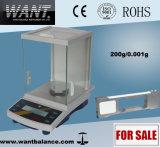 60 g de 0,001 g de precisión analítica balanza digital