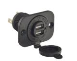 Waterdichte Dubbele 2 USB Afzet 1A & 2.1A de Adapter van de Macht van de Lader van de Contactdoos van de Haven voor de Motorfiets van de Boot van de Auto leiden van de Afzet van 12 Volts