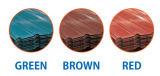 着色された電流を通された鋼鉄屋根ふきシート