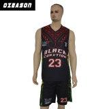 Neues Entwurfs-Sublimation-Basketball-Uniform-Hemd anpassen