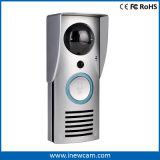 防水無線カメラのドアベル、対面音声が付いているビデオドアの電話