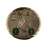Andenken-Münze der Qualitäts-echte Vergoldung-3D