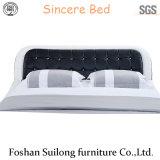 현대 디자인 가죽 침대
