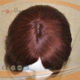 Menschenhaar-rote volle Spitze-Perücke (PPG-l-01013)