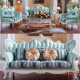 Wohnzimmer-Möbel eingestellt mit hölzernem ledernem Sofa (510F)