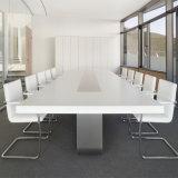 ハイエンド人工的な水晶石の白い四角のデザイン現代オフィスの会合の会議の席