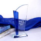 Синий и белый хрустальное стекло блок личные настройки надписи трофей