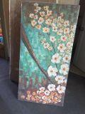パレットナイフによるハンドメイドの重油の花の油絵