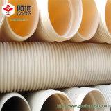 Tubo doble del plástico del PVC de los tubos de las aguas residuales de la pared del plástico PVC-U