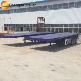 Aanhangwagen van het Bed van het Vervoer van de Container van de tri-as 40FT 20FT 45FT de Vlakke
