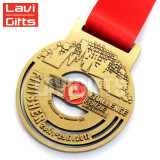 Coutume commémorative antique directe de médaillon de médaille d'amoureux en métal d'usine chaude de vente