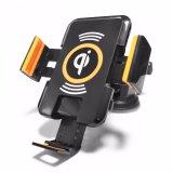 Nuevo cargador de coche inalámbrico + soporte negro