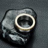 Los hombres de moda Fecha y hora de joyas joyería anillo de acero inoxidable