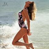 Цельный купальник печать купальный костюм Bodysuit купальный костюм Vintage Пляжную