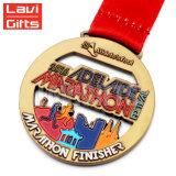 3D 26,2 métalliques personnalisées émail doux Prix Module de finition ruban Demi-marathon de médaillons de la Médaille de plein air avec cordon