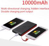 Côté par la carte de crédit 8000mAh de pouvoir de côté ultra mince de pouvoir avec le câble de garniture intérieure