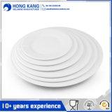 Placa redonda blanca del plástico de la melamina de la insignia de la cena de encargo de los electrodomésticos