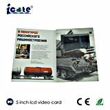 Карточка /Business поздравительной открытки цены по прейскуранту завода-изготовителя видео- Brochure/LCD видео- видео- 5 дюймов