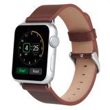 42mm Apple 시계 줄을%s 다채로운 고전적인 보통 진짜 가죽 시계 결박