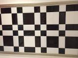 """台所Backsplashまたは浴室の壁のための3枚の"""" X6 """" /7.5X15cmの黒い光沢のある斜めの地下鉄のタイル"""