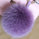 Fuzzy Trousseau d'animaux à fourrure de renard Pompom boule de fourrure de gros