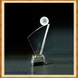 Kugel-Spiel-Leerzeichen-Glastrophäe-Zoll