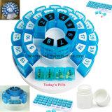 Promoción organizador plástico semanal de la píldora de 7 días