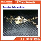 섬유 Stanlesssteel Alumilum 금 은 높은 정밀도 100W Laser 표하기 기계