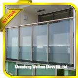 10mm建物の価格の12mmの安全な、透過バルコニーの柵の薄板にされたガラス