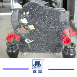 Il cuore intagliato nero poco costoso a forma di personalizza il Headstone del granito & del marmo/pietra tombale/Monument per stile europeo