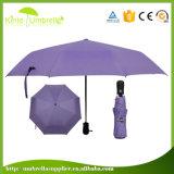 까만 젤 3 겹 우산을%s 가진 자주색