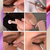 Latigazos hechos a mano naturales del ojo de las pestañas falsas de las pestañas de la falsificación del visión de las muestras libres 3D