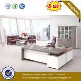 Weiße Lacqure hoch glatte Anfangsetikett-hölzerne Büro-Möbel (HX-5DE483)