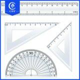 Haute qualité en matière plastique OEM tirage promotionnel Triangle numérique règle souple