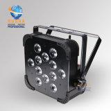 단계 비행 케이스 도로 상자를 가진 가벼운 장비 12LEDs 15W 5in1 RGBWA 무선 LED 호리호리한 동위 빛