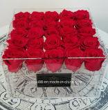 9, 16, 25 의 36마리의 실제적인 장미를 위한 새로운 명확한 아크릴 꽃 상자