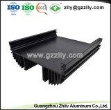 L'extrusion de profilés en aluminium pour dissipateur de chaleur avec l'anodisation et de l'usinage CNC