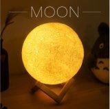 3D 인쇄 창조적인 참신 선물 달 램프 USB LED 밤 빛