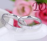 Boucle de mariage argenté en gros de commande numérique par ordinateur